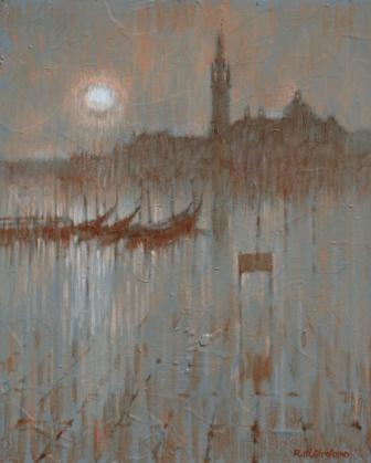 British Artist Romeo di GIROLAMO - Early Morning Venetian Reflections