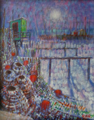 Lobster Pots painting by artist Romeo di GIROLAMO