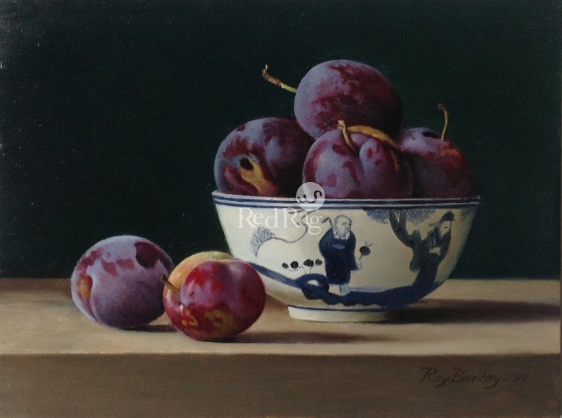 Roy BARLEY - Plums in a Chinese Bowl