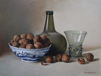 Roy BARLEY - Onion Bottle and Walnuts in a Chinese Bowl