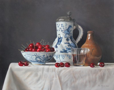 Roy BARLEY - Cherries with Delft jug