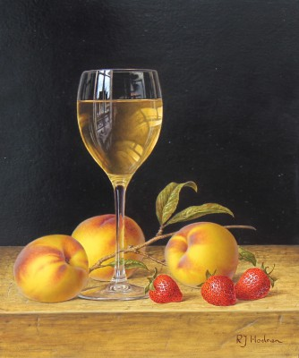 Roy HODRIEN - White Wine with Peaches and Strawberries