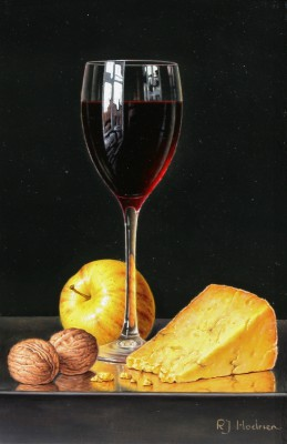 Roy HODRIEN - Red Wine with Cheese and Walnuts