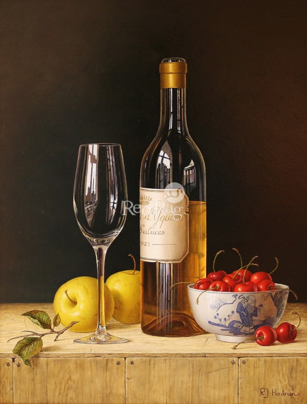 Roy HODRIEN - Chateau d'Yquem with apples and cherries