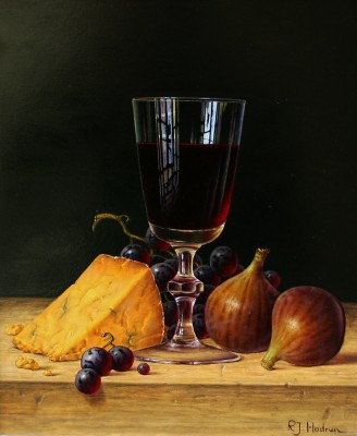 Roy HODRIEN - Red Wine with Figs and Cheese