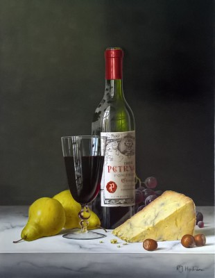 Roy HODRIEN - Chateau Petrus with Pears and Cheese
