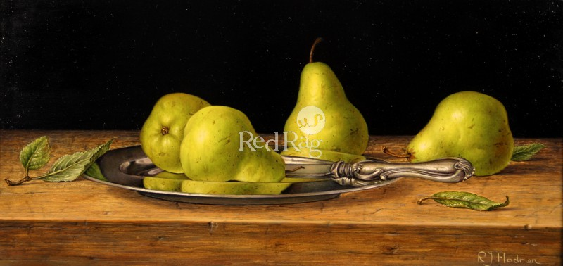 Roy HODRIEN - William Pears on a Silver Plate