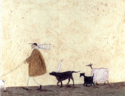British Artist Sam Toft - Heading Home for Pie and Custard