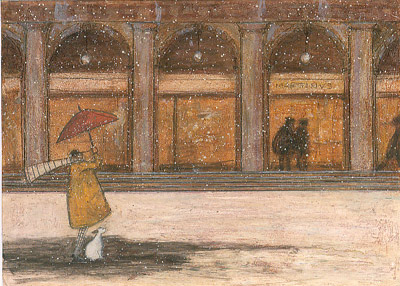 British Artist Sam Toft - It's Snowing in St. Marks Square, Doris