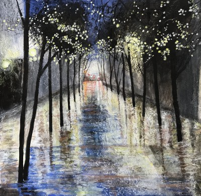 Sandra MOFFAT, contemporary artist&nbsp;-&nbsp;<span style='color:red;font-size: 200%'>&#8226;</span> Light Shower in the City