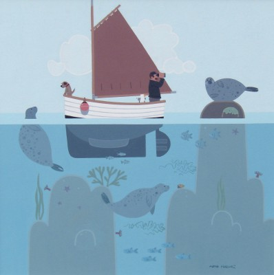 British Artist Sasha HARDING - Seal Watching