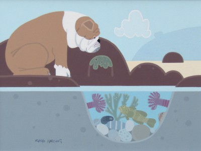 British Artist Sasha HARDING - The Bulldog and the Goby