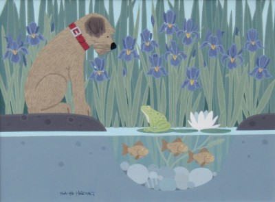 British Artist Sasha HARDING - Dog and Frog