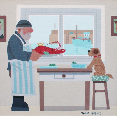 British Artist Sasha HARDING - Lobster Supper