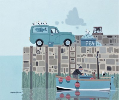 The Harbour painting by artist Sasha HARDING