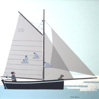 British Artist Sasha HARDING - Summer Morning Sail