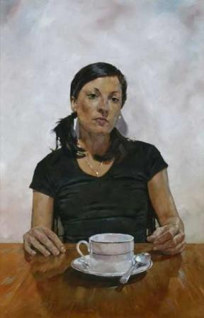 Simon DAVIS - Portrait of Amanda Smith at Vincent Avenue