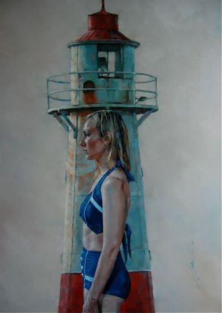 Le Phare painting by artist Simon DAVIS