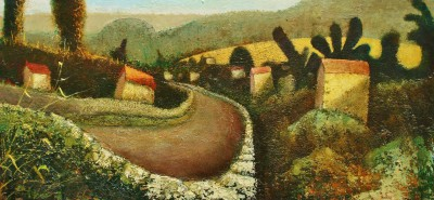British Artist Simon GARDEN - Down the Lane