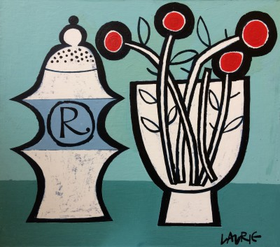 'Pepper Pot and Flowers' painting