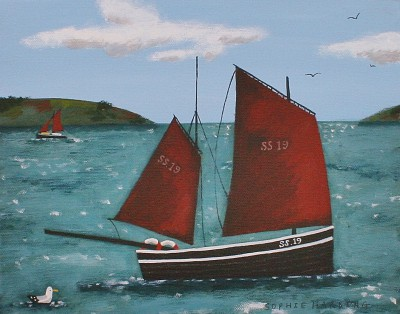 British Artist Sophie HARDING - Lugger and Gull