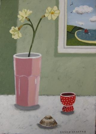 Sophie HARDING - Spring Flowers, Eggcup and Shell