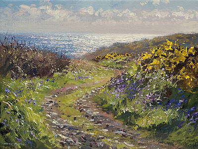 British Artist Mark Preston - Spring Light, Kenidjack