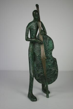 Sculpture and Sculptors Artist Stanley DOVE - Bass Player (Edition 8/12)