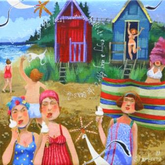 British Artist Stephanie LAMBOURNE - Day Trip