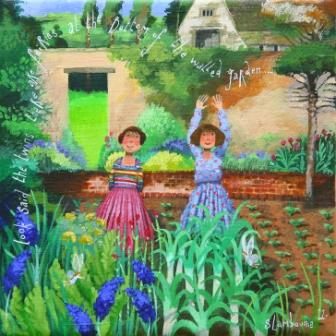 British Artist Stephanie LAMBOURNE - Fairies at the Bottom of the Garden