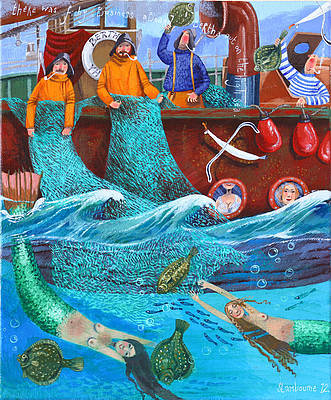 British Artist Stephanie LAMBOURNE - Fishy Business