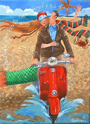 British Artist Stephanie LAMBOURNE - Vespa