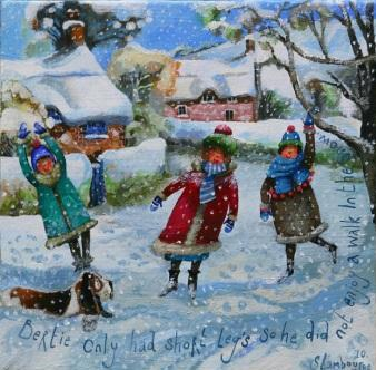 British Artist Stephanie LAMBOURNE - Cold Feet