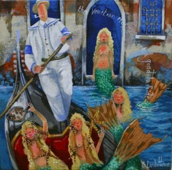 British Artist Stephanie LAMBOURNE - Venetian Maids