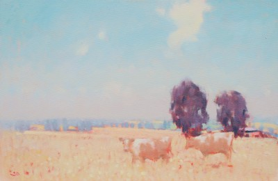 British Artist Stephen BROWN RBA - Copper Beech Farm