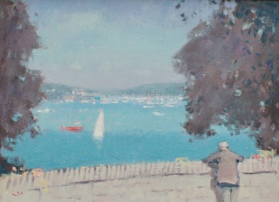 British Artist Stephen BROWN RBA - Watching the Regatta