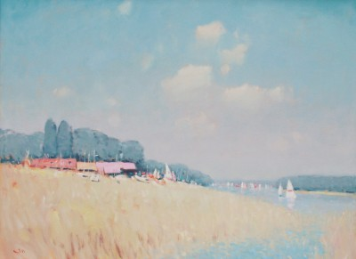 British Artist Stephen BROWN RBA - The Sailing Club