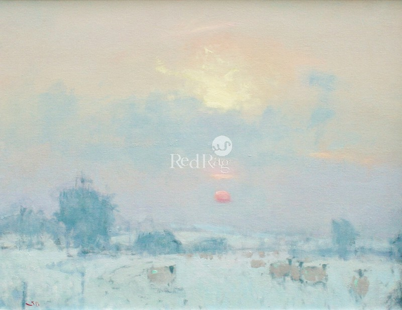 Stephen BROWN RBA - Sunset, the High Cotswolds
