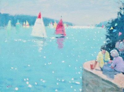 British Artist Stephen BROWN RBA - Ferry Inn, Salcombe