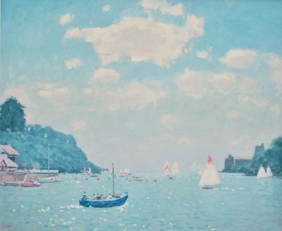 British Artist Stephen BROWN RBA - Castle Ferry, Dartmouth