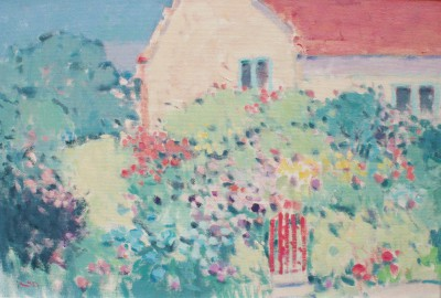 British Artist Stephen BROWN RBA - Red Gate Cottage