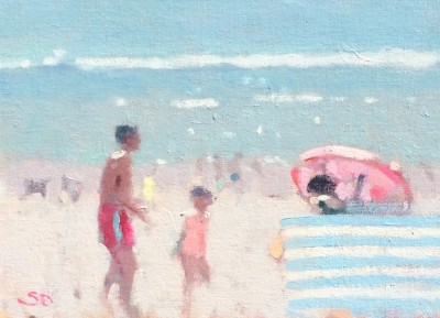 British Artist Stephen BROWN RBA - Summer at Sidmouth