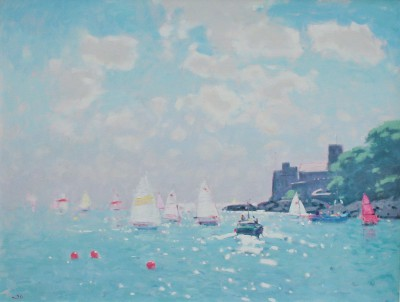British Artist Stephen BROWN RBA - Dartmouth Castle, High Summer