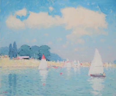 British Artist Stephen BROWN RBA - The Yacht Club