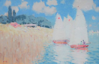 British Artist Stephen BROWN RBA - Sailboats