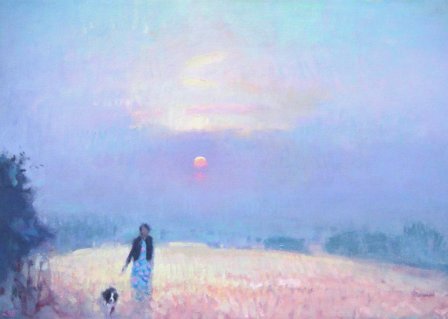 British Artist Stephen BROWN - Sunset, Core Hill