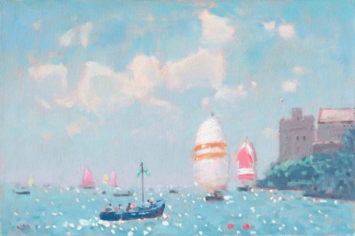 Stephen Brown - Blue Boat and Spinakers
