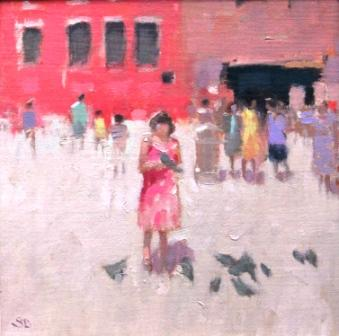 Stephen BROWN RBA - Girl in Pink, Siena