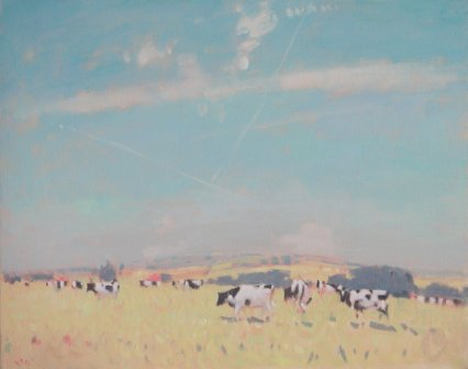 British Artist Stephen BROWN - A View Towards Dartmoor