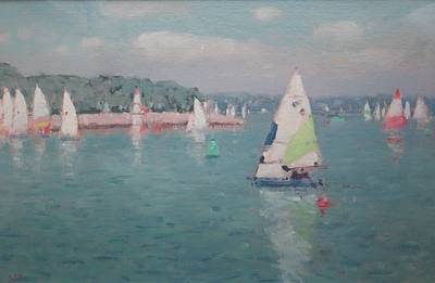 British Artist Stephen BROWN - Sailing SYC (Starcross Yacht Club)